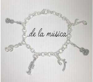 Pulsera de la música plata