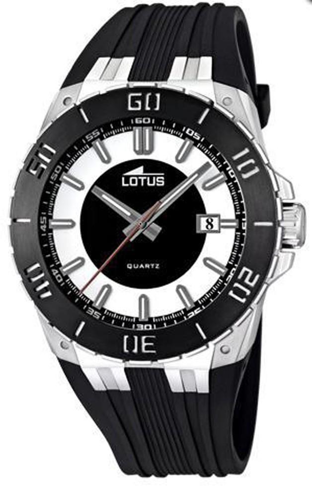 944679300c3a Reloj Lotus caballero acero y caucho. Ref. 15805 1
