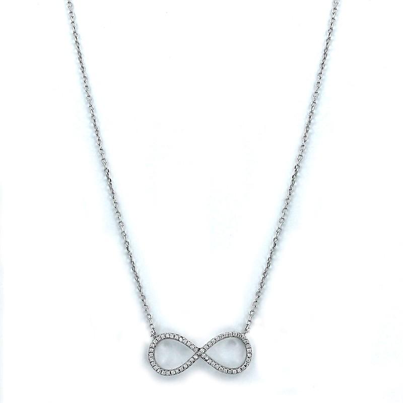 67c3c43951ef Colgante plata infinito circonitas y cadena
