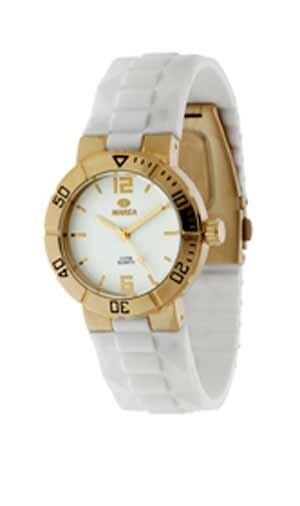 Reloj Marea mujer caucho blanco y dorado. Ref. B42114 5 f1318a9ae21f