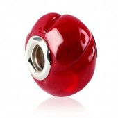 Abalorio pulsera SMW plata Murano rojo
