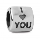 "Abalorio pulsera SMW plata ""I LOVE YOU"""