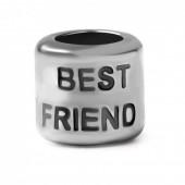 "Abalorio pulsera SMW plata ""BEST FRIEND"""