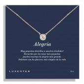 Colgante Luxenter plata chapada Circonita (Alegría)