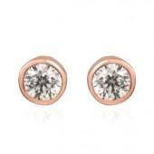 Pendientes Luxenter plata ip rosa Circonita (Única)