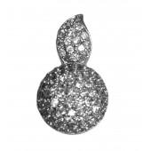 Colgante plata gota con zirconitas