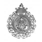 Medalla cuna metal plateado Virgen del Rocío. SS-250328ME