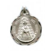 Medalla plata Virgen del Rocío redonda