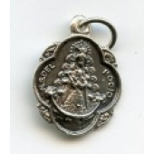 Medalla plata Virgen del Rocío pandereta