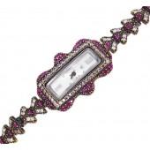 Reloj plata vintage con zirconitas y rubíes